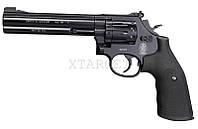 """Пневматический револьвер Smith&Wesson Mod. 586, 6"""", к. 4,5мм Diabolo, 120 м/с, чёрн."""