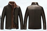 Мужская стильная зимняя дубленка. Модель 929, фото 2