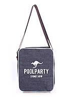 Сумка Джинсовая сумка POOLPARTY с ремнем