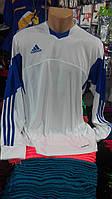 Футболка Adidas Tiro13 с длинным рукавом бело-синяя
