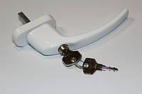 Ручка с замком белая