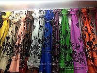 Шарфы, шарф цветной с велюром , фото 1