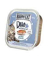 HAPPY CAT Duo паштет, говядины и трески 100 g