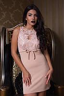 Женское платье без рукавов с паетками
