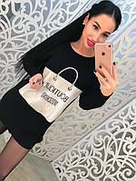 Женское трикотажное платье - туника DB-2563