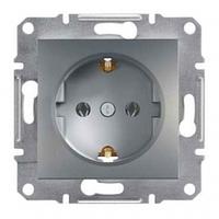 Механизм розетки 2К+З, 16А, немецкий стандарт сталь Schneider Electric Asfora