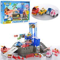 Детская парковка-гараж  Робокар Поли ZY-609, 4 машинки, дорожные знаки