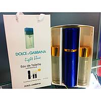 Мини духи в подарочной упаковке DOLCE AND GABBANA LIGHT BLUE EDTP 3X15ML