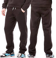 ЗИМНИЕ спортивные штаны мужские больших размеров утепленные трикотажные черные  баталы Украина