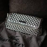 Сумка Кожаный клатч копия Burberry в деталях, Lux качество ✌
