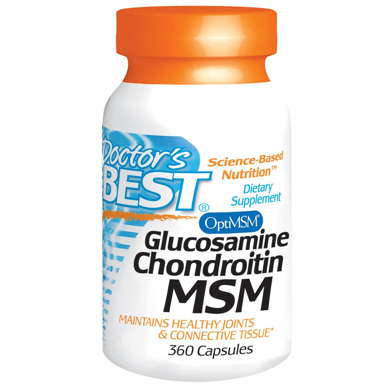 Глюкозамин Хондроитин 360 капсул, Doctor's Best