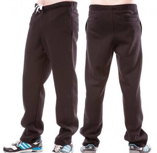 ЗИМНИЕ спортивные штаны больших размеров утепленные мужские трикотажные черные  баталы Украина