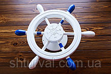 Штурвал на стену с компасом и поворотным механизмом 50 см