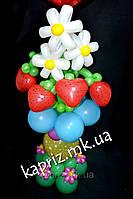 Оригинальный букет из шаров Ромашки с клубничками