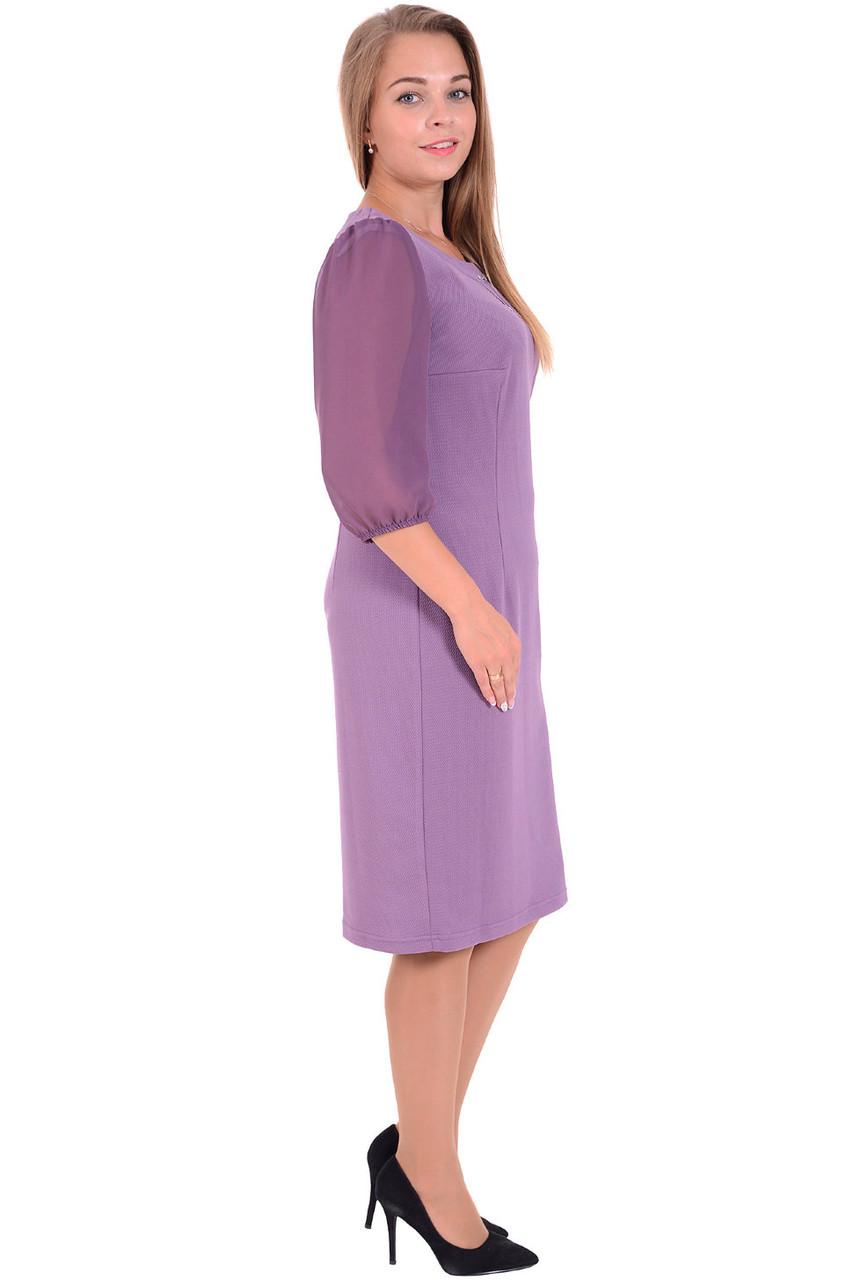 Женские платье трикотажные с шифоновыми рукавами
