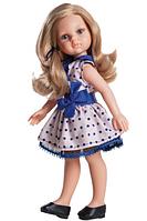 Кукла Paola Reina Карла в платье с синим бантом 32 см (04506)