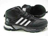 Кроссовки зимние мужские Adidas marathon winter черно-белые