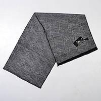 Мужской шарф, серый, 178*30 см