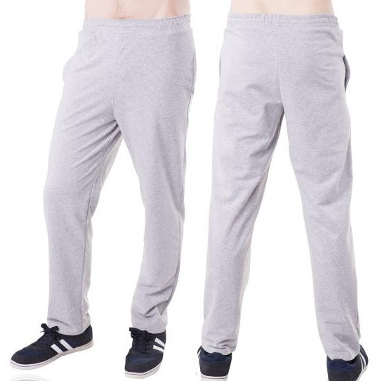 Спортивные штаны больших размеров мужские трикотажные светло серые  баталы Украина