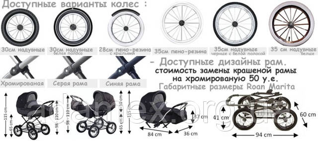 Классическая детская коляска Роан Марита