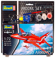 Сборная модель Revell Model Set. Самолет BAe Hawk T.1 Red Arrows (64921)