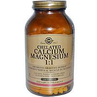 Solgar, Хелатный кальций и магний в соотношении 1:1, 240 таблеток