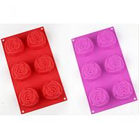 Силиконовая форма для выпечки и желе  29*17*4 см Роза , фото 1