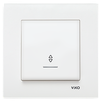 Выключатель 1-кл. проходной с подсветкой Viko Karre белый