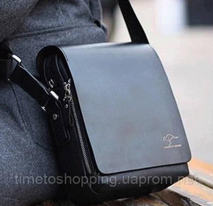 5d6f5effbae9 Мужская сумка, борсетка, Кенгуру Черный.