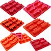 Силиконовая форма для выпечки и желе 19,5*21,8*3 см Машины легковые