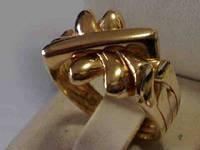 Золотые украшения - кольцо головоломка от WickerRing