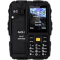 """Ударопрочный телефон NO.1 A9 black черный IP67 (2SIM) 2,4"""" 3 Мп оригинал Гарантия!"""
