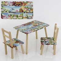 Детский столик и два стульчика Робомашинки