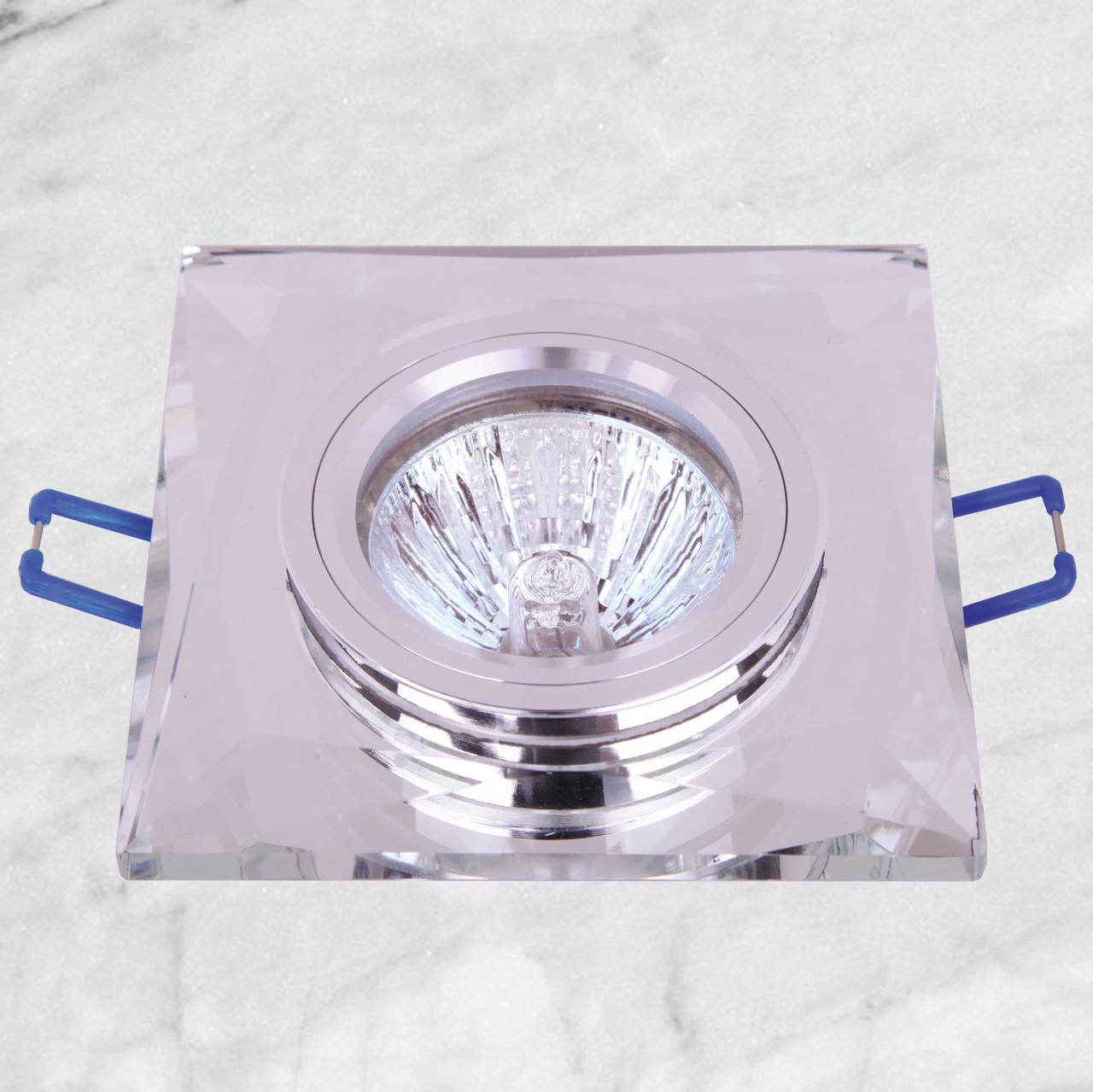 Точечный стеклянный врезной светильник (05-126 зеркальный)