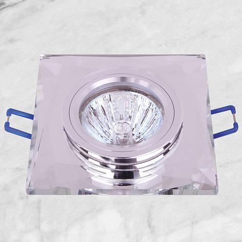 Точечный стеклянный врезной светильник (05-126 зеркальный), фото 2