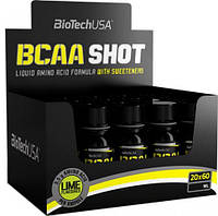 Жидкие аминокислоты BCAA SHOT (20 x 60 мл) BioTech USA