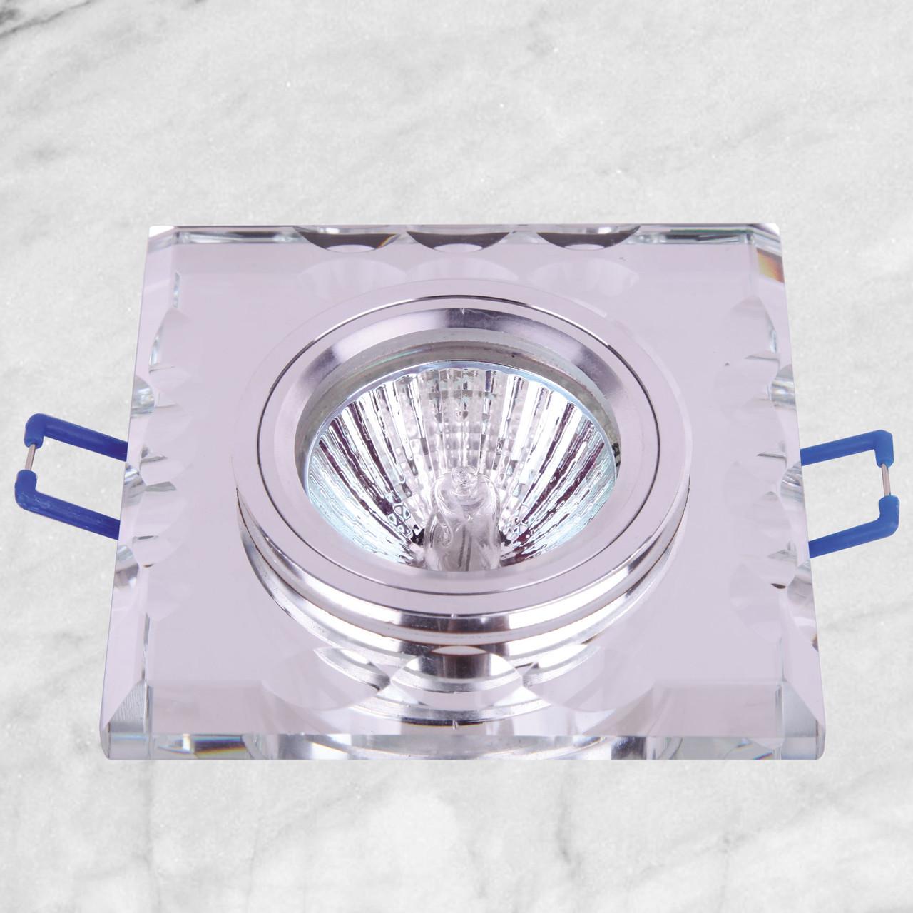 Точечный стеклянный врезной светильник (05-136 зеркальный)