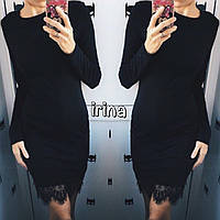 Классическое мини платье с Кружевом!!!!