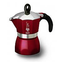 Кофеварка гейзерная Bialetti Dama Glamour Red, на 3 чашки
