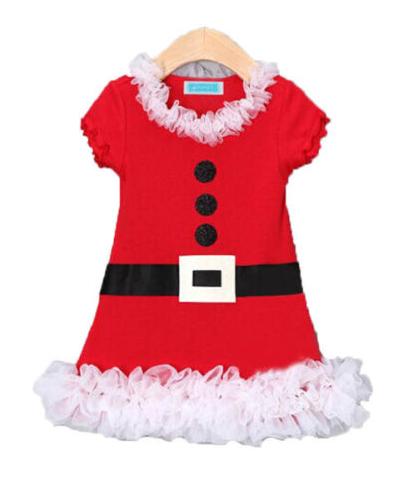 Різдвяне Санта плаття для дівчинки від 1 року.