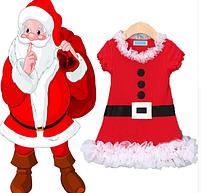 Рождественское платье Санта для девочки от 1 года., фото 2