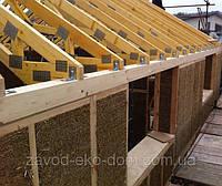 Энергосберегающий дом из прессованной соломы или камыша в деревянном каркасе, фото 1