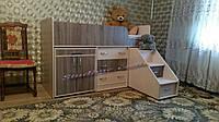 """Детская кровать-чердак  """"Лунтик"""" со спальным местом 1700х800"""