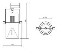 Прожектор на шинопровод IMPERIAL GOT 140 Spot 70 W, фото 2