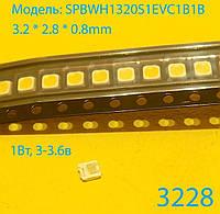 Светодиод 3228 SMD, LED3228, 3в 1Вт Samsung