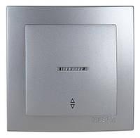 Выключатель проходной с подсветкой  Nilson Touran серебро