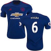 Футбольная форма Манчестер Юнайтед Погба (Manchester United Pogba) 2016-2017 Выездная (Синяя)
