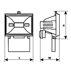 Галогенный прожектор Magnum LHF 500, фото 2
