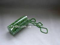 """Декор"""" Нить бусин d=5мм""""цвет зеленый(1 упаковка 9.5-10метров)"""