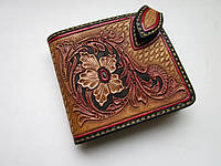 """Маленький кожаный кошелёк: """"RED LINE"""", фото 1"""